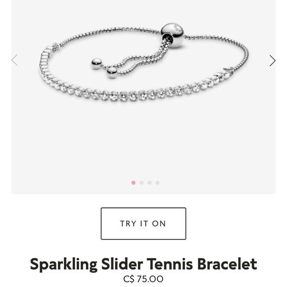 Pandora Sparkling Sliding Tennis bracelet